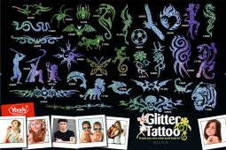 Glitzertattoos Kinder Event Set XXL