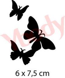 Schmetterlinge Trio Glitzertattoos