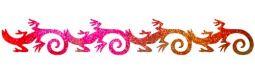 Gecko Armband Glitzer Tattoo