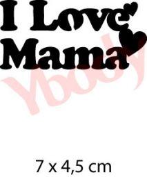 I Love Mama Kindertattoo