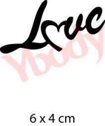Liebe Schriftzug Tattoo Schabone