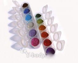 Kosmetik Glitzer Set 12 Farben