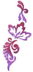 Glitzertattoo Blumen Armband