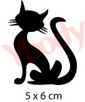 Freundliche Katze Schablone
