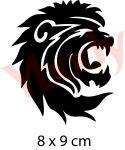 Löwenkopf Schablone
