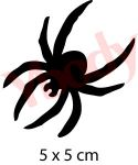 Spinne Tattoo Schablone Halloween