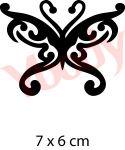 Schmetterling Schablone Glitzer Tattoo