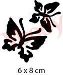 Schmetterlingsduo Glitzer Tattoo Schablone