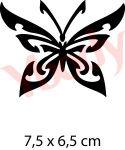 Schmetterling Glitzertattoo