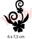 Schablone Blume