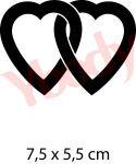 Schablone für Herzen