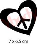 Peace & Love Schablone