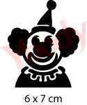 Clown Schablone