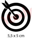 Bullseye Schablone