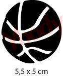 Basketball Glitzer Tattoo Kinder