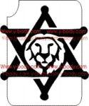 Löwenkopf im Davidstern