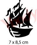 Schablone Piratenschiff