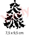 Weihnachtsbaum Glitzer Tattoo