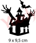 Geisterhaus Schablone Halloween