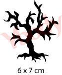 gruseliger Baum Glitzertattoo