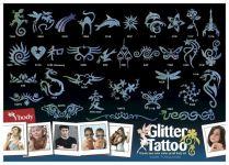 Tattoo Schablonen Set 33 Rare Turquoise