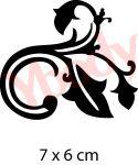 Blätterranke Tattoo Schablone