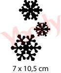 Schneeflocken Schablone