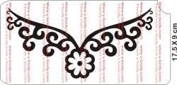 Schablone Blumen Kette