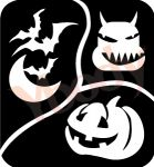 3er Kürbis Halloween Schablonen
