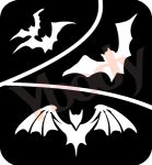 3er Fledermäuse Schablonen Halloween