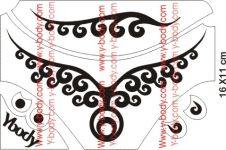 Circular Schmuck Tattoo Schablonen Set