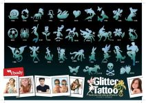 165 Green Glitter Tattoo Schablonen Set