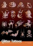 80er Halloween Tattoo Schablonen Set